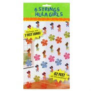 Decoration 6 Strings Hula Girls 2.13m Pk6