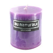 Lavender Scented Pillar Candle (7x7.5cm) Pk 1