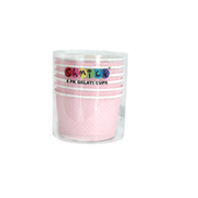 Pastel Pink Gelati Cups with Mini White Polka Dots Pk 6