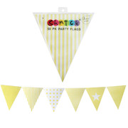 Pastel Yellow Party Flags Pk 50