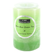 Bamboo Green Tea Scented Pillar Candle (5x7.5cm) Pk 1
