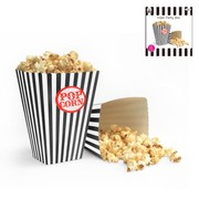 Black & White Stripe Popcorn Boxes Pk 10