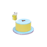 Yellow Cake Wrapper with White Polka Dots (100cm) Pk 1