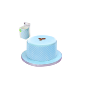 Blue Cake Wrapper with White Polka Dots (100cm) Pk 1