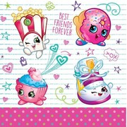 Shopkins 2 Ply Lunch Napkins Pk 16