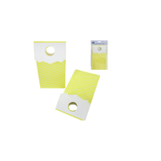 Yellow Loot Bags with White Polka Dots Pk 6