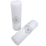 White Unscented Pillar Candle (7x22.5cm) 1 CANDLE ONLY