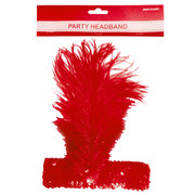 Red Flapper Headband Pk 1