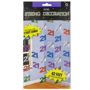 Decoration Foil 6 Strings 21  2.13m Pk6