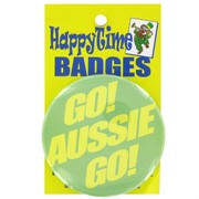 Party Badge - Australian Go Aussie Go Pk1