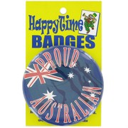 Party Badge - Proud Australian Flag Pk1