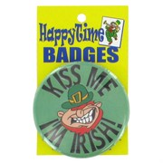 St Patrick's Day Party Badge - Kiss Me I'm Irish Pk 1