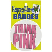 Pink Ribbon Badge - Think Pink Pk1