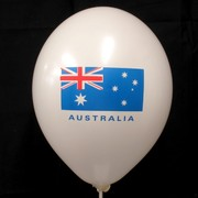 Balloons Latex 2 Sided Aussie Flag 2 Colours Pk10