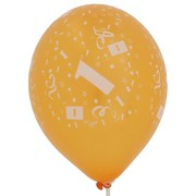 Balloons Latex All Over 1 Assorted Colours Pk50