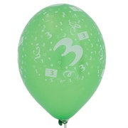 Balloons Latex All Over 3 Assorted Colours Pk10