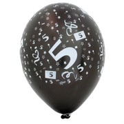 Balloons Latex All Over 5 Assorted Colours Pk50