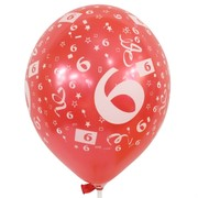 Balloons Latex All Over 6 Assorted Colours Pk10