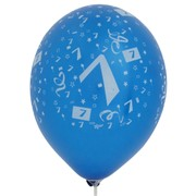 Balloons Latex All Over 7 Assorted Colours Pk50