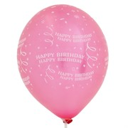 Balloons Latex All Over Happy Birthday Confetti Assorted Colours Pk10