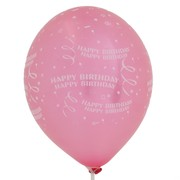 Balloons Latex All Over Happy Birthday Confetti Assorted Colours Pk50