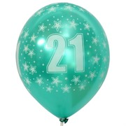 Balloons Latex All Over 21 Metallic Assorted Colours Pk10