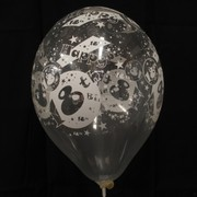 Balloons Latex All Over 18 Clear Pk10