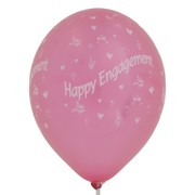 Balloons Latex All Over Engagement Metallic Assorted Colours Pk10