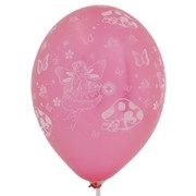 Fairy Party Balloons  - All Over Print Latex Metallic Assorted Colours Pk10