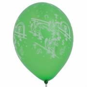 Balloons Latex Metallic All Over Print Horse Racing Assorted Colours Pk10
