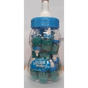 Baby Bottle with 20 Mini Bottles of Blue Jelly Beans Pk 1