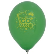 Balloons Latex 2 Sided Print Go Aussie Pk10