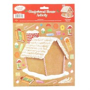 Christmas Gingerbread House Sticker Activity Pk1