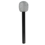 Black Microphone With Silver Glitter Pk1
