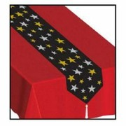 Stars Plastic Table Runner (1.8m) Pk 1