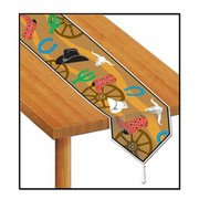 Western Themed Plastic Table Runner (1.8m) Pk 1