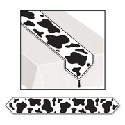Plastic Cow Print Table Runner (1.8m) Pk 1
