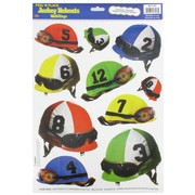 Jockey Helmets Window / Wall Clings Pk 10