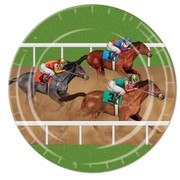 Horse Racing 9in. Paper Plates Pk 8