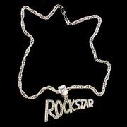 Rock Party Necklace - Silver Rockstar Pk1