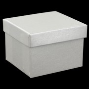 Bonbonniere Box With Lid Pearl 60x55x40mm Pk12