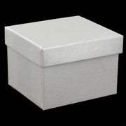 Bonbonniere Box With Lid Pearl 60x55x40mm Pk24