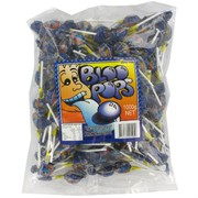 Blue Tongue Lollipops - Bloo Pops 1kg Pk 143