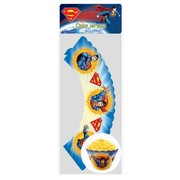 Superman Party Cupcake Wrappers Pk 12