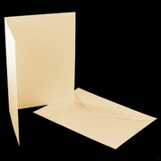 Card Pack C6 Blank Smooth Cream Pk5