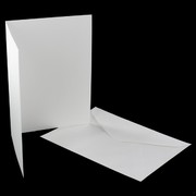 Card Pack C6 Blank Smooth White Pk5
