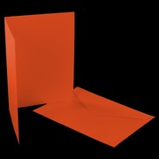 Card Pack C6 Blank Fantail Orange Pk5