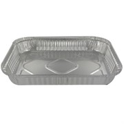 Containers Aluminium Large Rectangle Foil 2kg Tray 485 Pk1