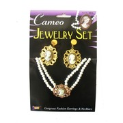 Jewellery Period Cameo Earrings & Necklace Set Pk1