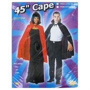 Cape Black Vampire Nylon 45in For Adults Pk1